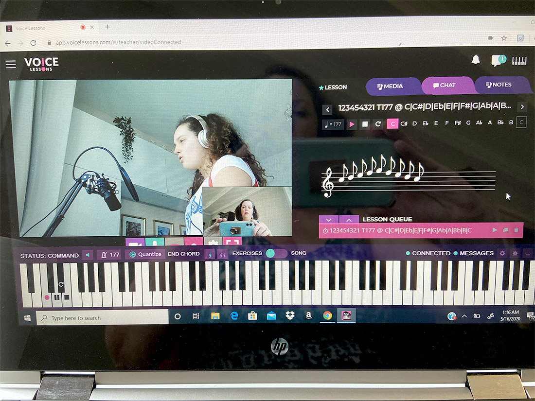 Online singing lessons using VoiceLessons.com